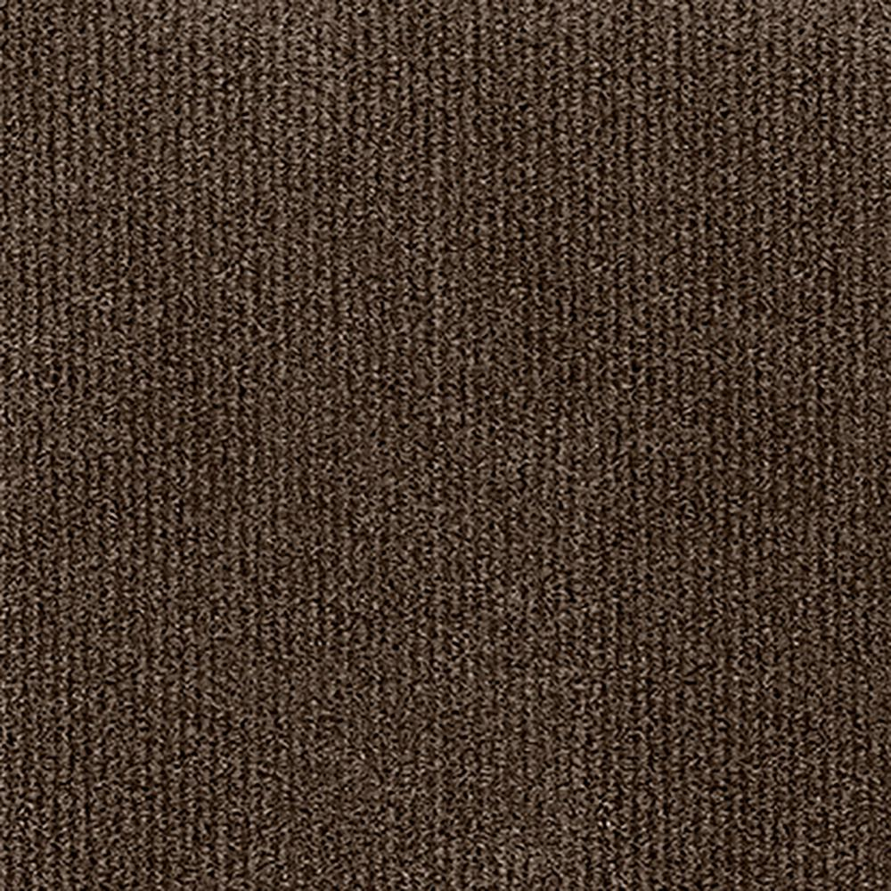 Design Smart Espresso Rib Texture 18 in. x 18 in. Indoor/Outdoor