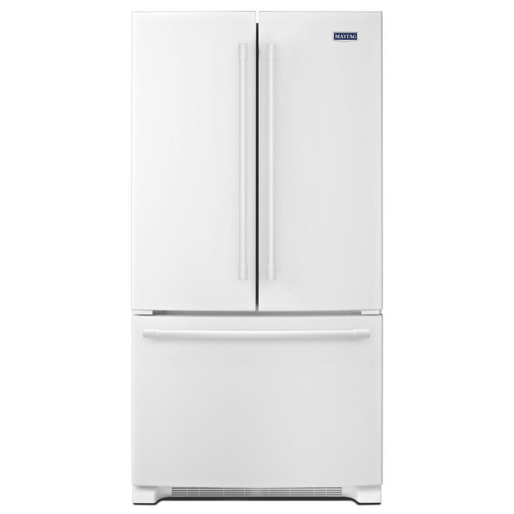 Maytag 36 in. W 25 cu. ft. French Door Refrigerator in White