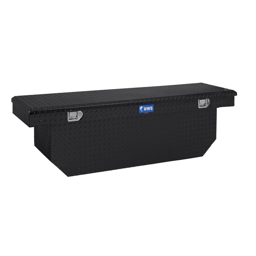 72 in. Aluminum Black Single Lid Crossover Deep Tool Box