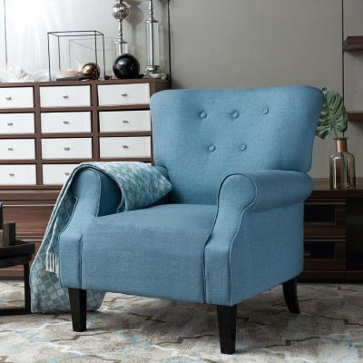 Turquoise Blue Upholstery Arm Chair