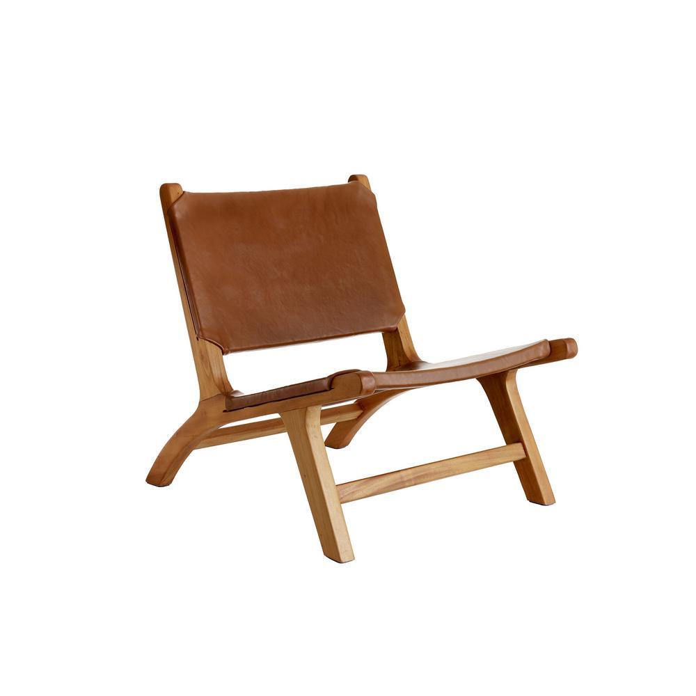 Copenhagen Brown Leather Lounge Chair