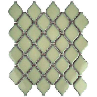 Arabesque Thalia 9-7/8 in. x 11-1/8 in. x 6 mm Porcelain Mosaic Tile