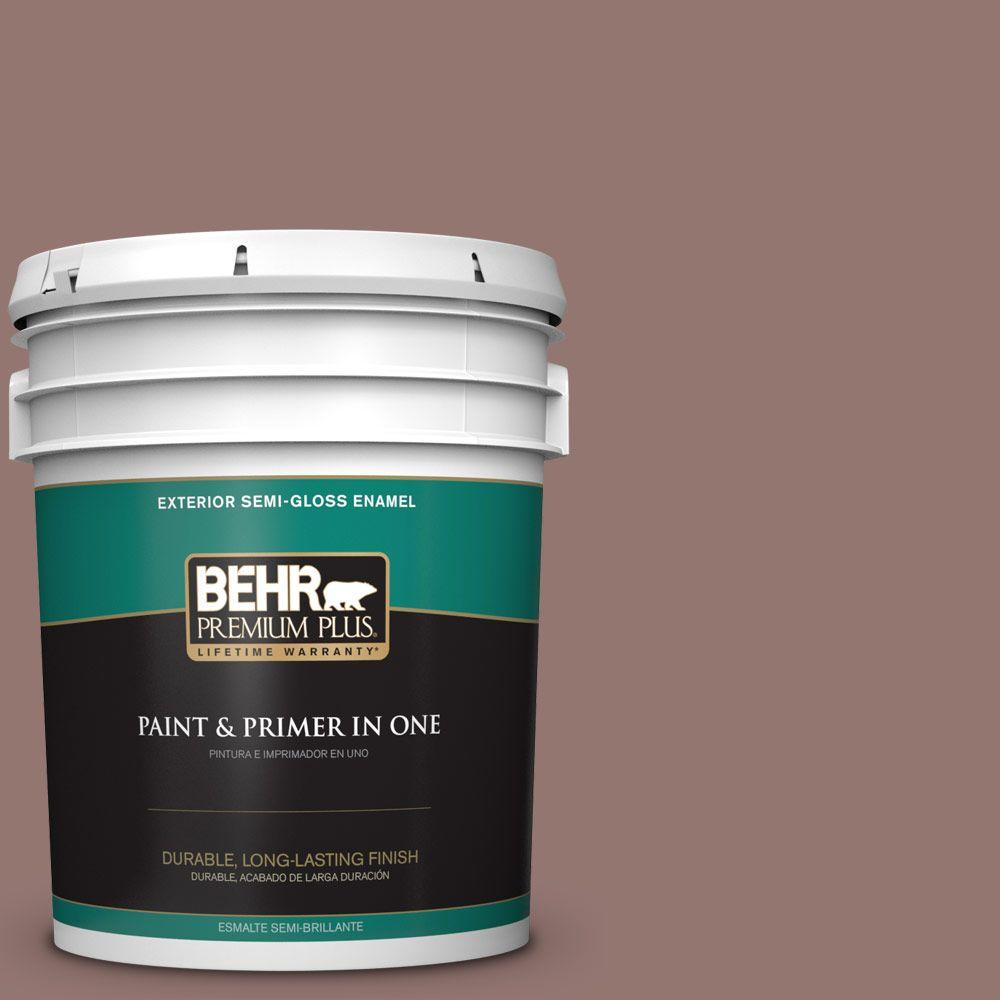 5-gal. #710B-5 Milk Chocolate Semi-Gloss Enamel Exterior Paint