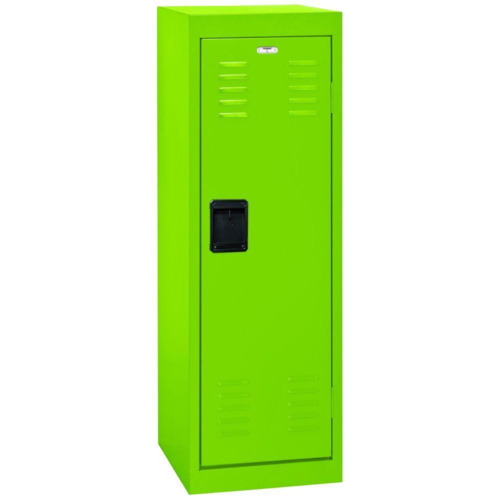 Sandusky 48 in. H x 15 in. W x 15 in. D 1-Tier Steel Locker in Electric Green