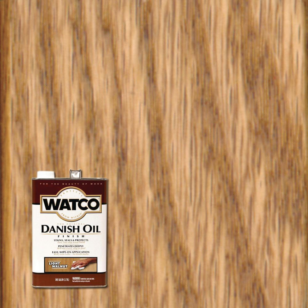 Watco 1 gal. Light Walnut Danish Oil (2-Pack)