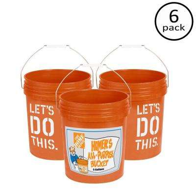 5 gal. Homer Bucket (6-Pack)