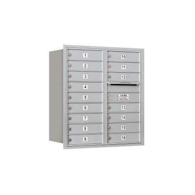 3700 Series 34 in. 9 Door High Unit Aluminum Private Rear Loading 4C Horizontal Mailbox with 16 MB1 Doors