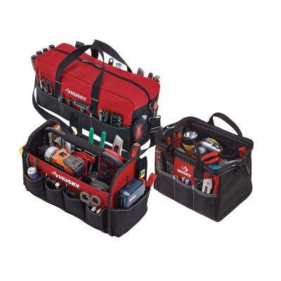 15 in. Tool Tote, 12 in. Tool Bag, 20 in. Duffle 3-Bag Combo