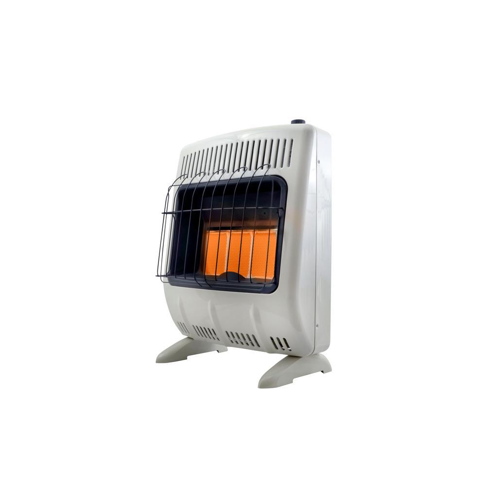 20,000 BTU Vent Free Radiant Natural Gas Heater
