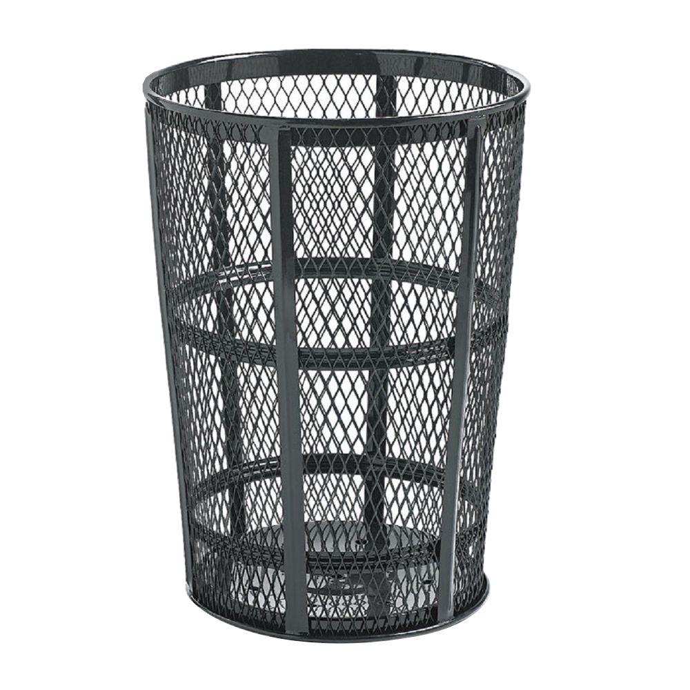 Rubbermaid Commercial Products 45 Gal. Black Round Street Trash Can