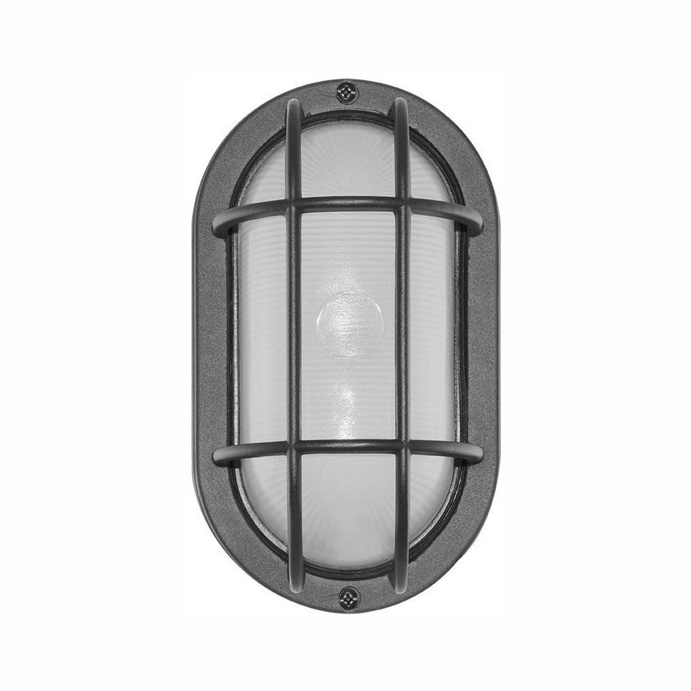 Euri Lighting Black Outdoor Integrated Led Bulkhead Wall Light