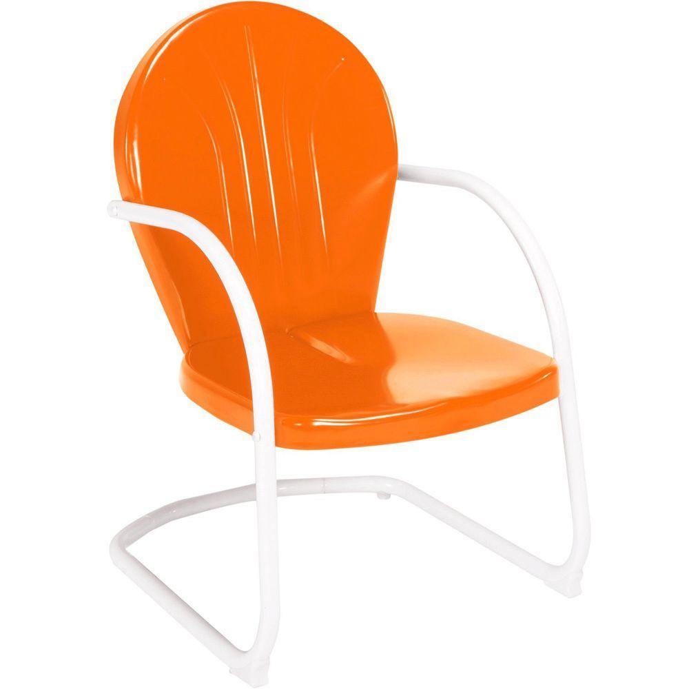 Jack Post Retro Orange Patio Chair