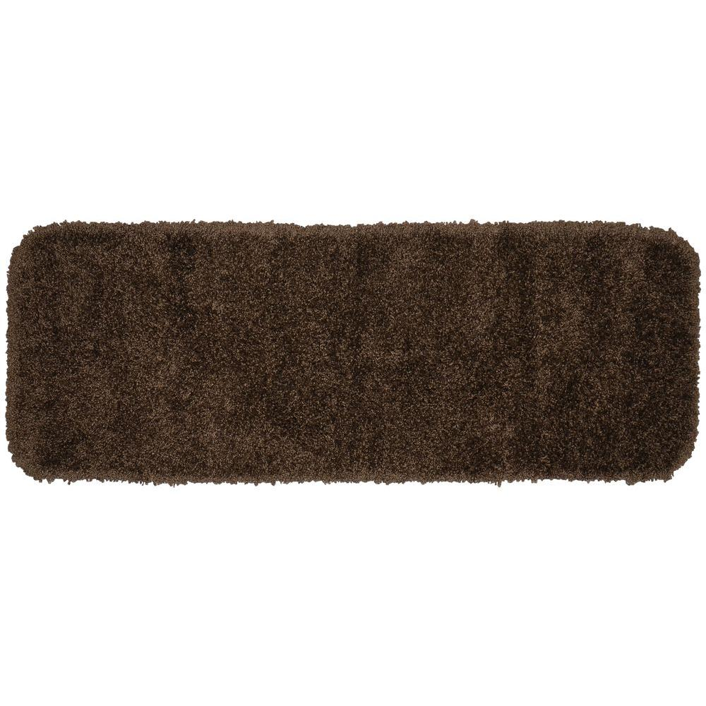 Brown Bath Mat Serendipity Chocolate 22 In 60 In Washable ...