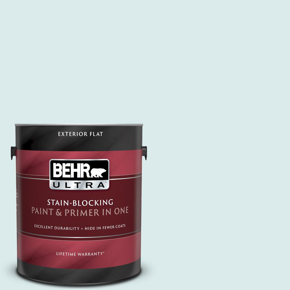 Reviews For Behr Ultra 1 Gal 510e 1 Ice Folly Flat Exterior Paint And Primer In One 485001 The Home Depot