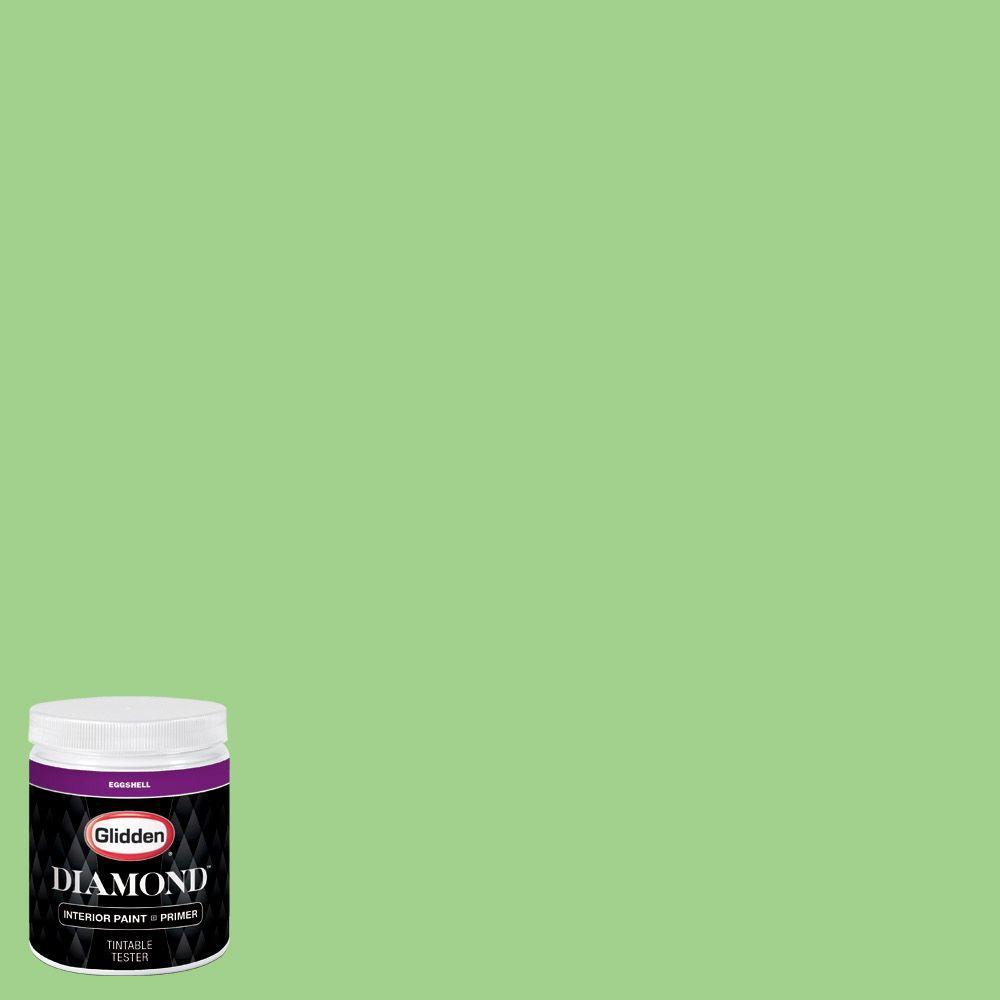 Glidden Diamond 8 Oz Hdgg40u Lucky Lime Eggshell Interior Paint Sample With Primer Hdgg40ud