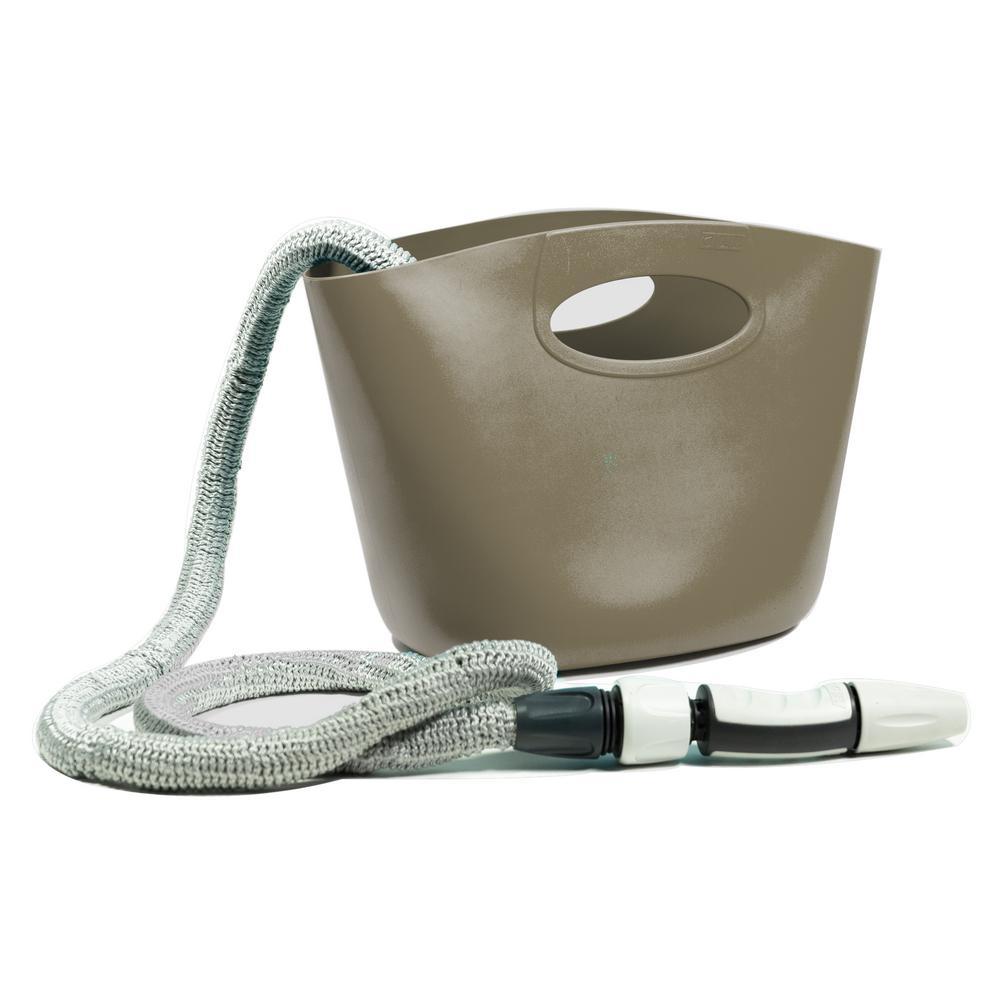 Aquapop 1 in. dia. x 50 ft. Mini Extendable Hose Kit in Grey