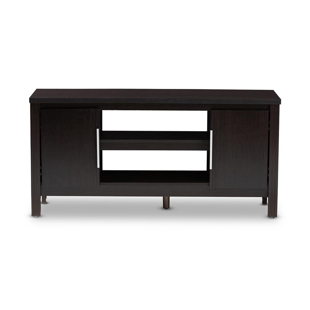 Baxton Studio Marley Wenge Dark Brown Tv Stand