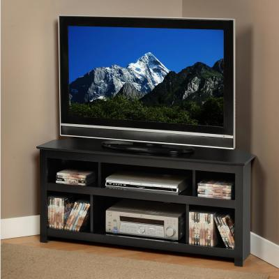 AV 48 in. Black Composite TV Stand Fits TVs Up to 48 in. with Cable Management