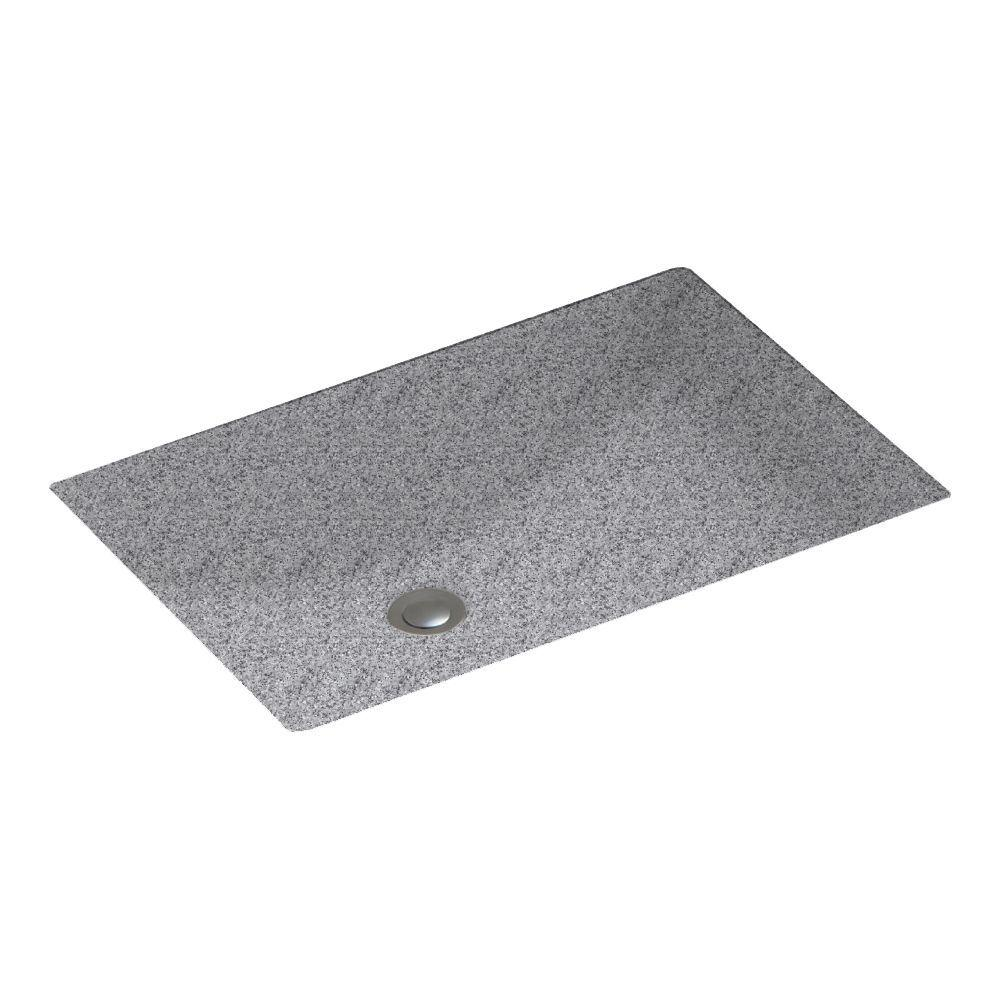 Contour Undermount Bathroom Sink in Gray Granite