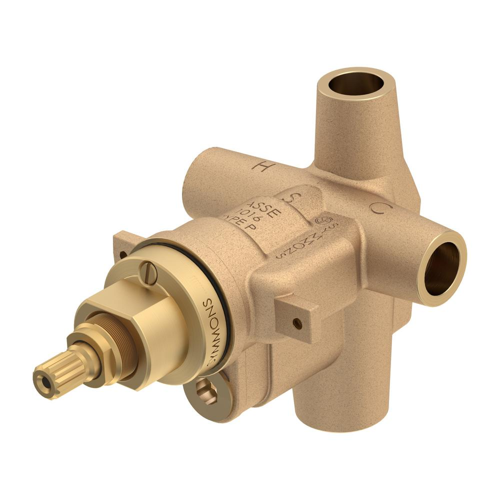 Brass Symmons 46-1X-BODY Temptrol Pressure Balancing Shower Valve Body with Stops
