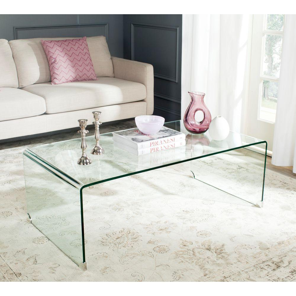 Safavieh Willow Clear Coffee Table Fox6014a The Home Depot