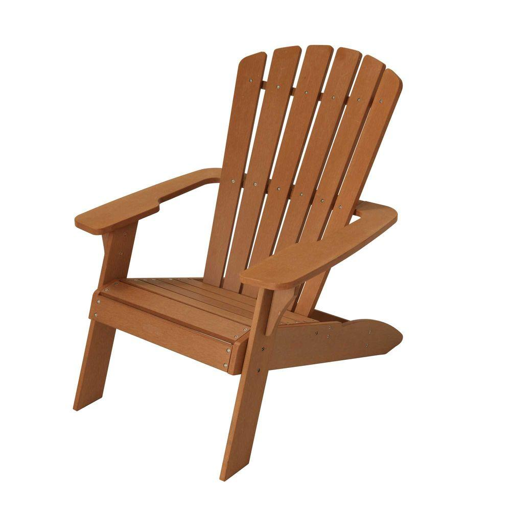 . Lifetime Simulated Wood Patio Adirondack Chair 60064   The Home Depot