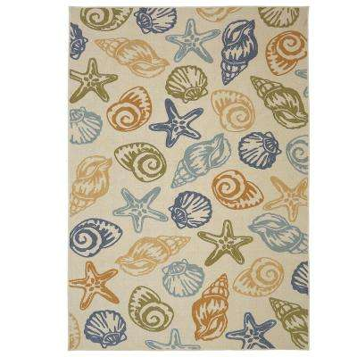 Seashells Multi 7 ft. 6 in. x 10 ft. Area Rug
