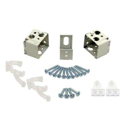 1 in. Alabaster Universal Replacement Brackets
