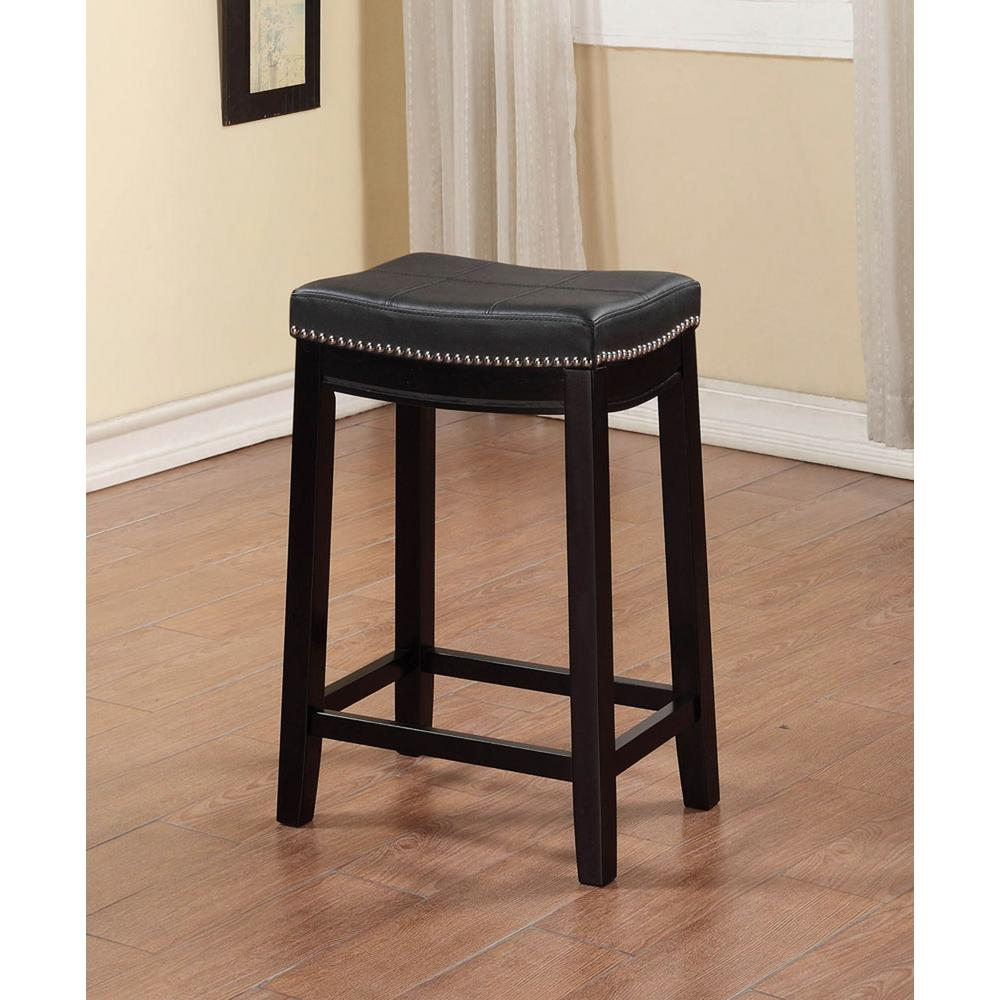 Linon Home Decor Claridge 26 In Black Cushioned Counter Stool