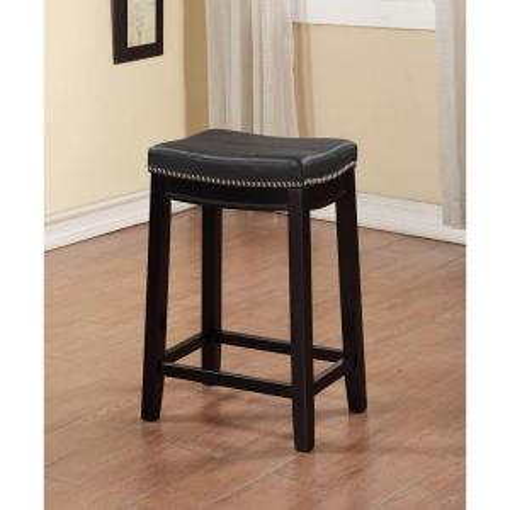 Linon Home Decor Claridge 26 In Black Cushioned Counter