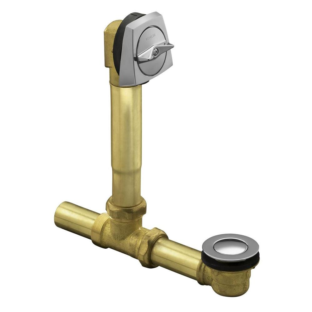 Clearflo 1 1 2 In Brass Adjustable Pop Up Drain In