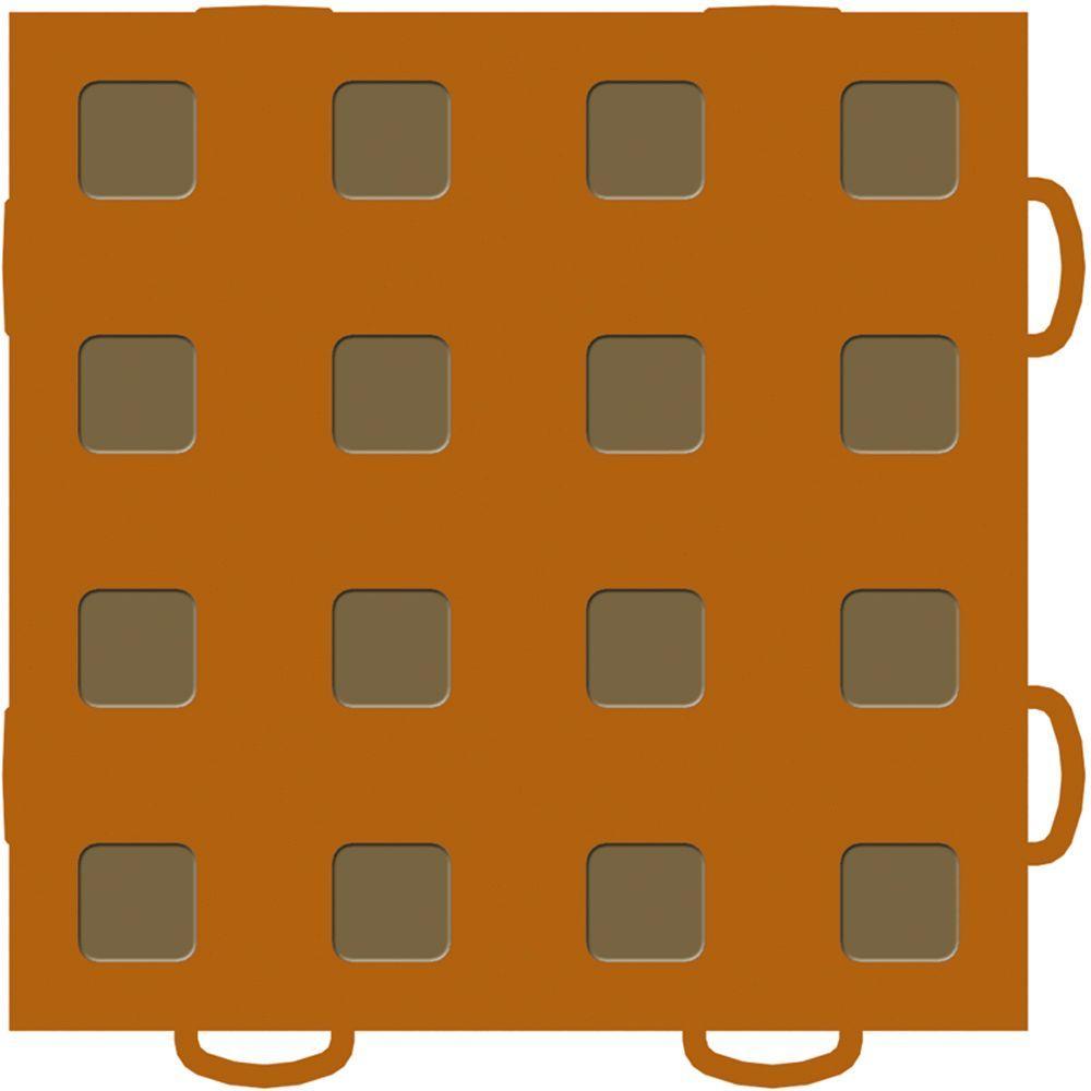 WeatherTech TechFloor 6 in. x 6 in. Terracotta/Medium Brown Vinyl Flooring Tiles (Quantity of 10)