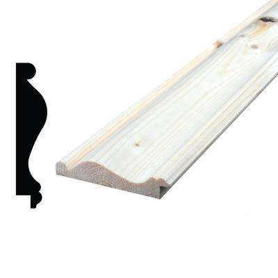 9/16 in. x 2-5/8 in. x 96 in. Knotty Pine Chair Rail Moulding
