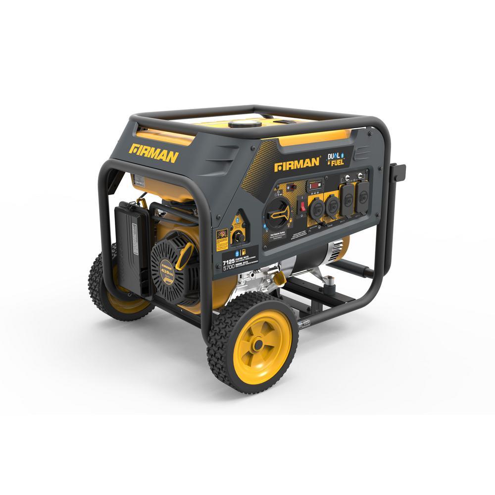 5700-Watt Dual Fuel Gas Powered Portable Generator