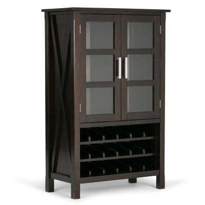 Dark Walnut Brown Bar Cabinet