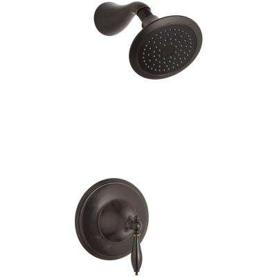 Finial 1-Handle Shower Faucet Trim Kit in Oil-Rubbed Bronze (Valve Not Included)