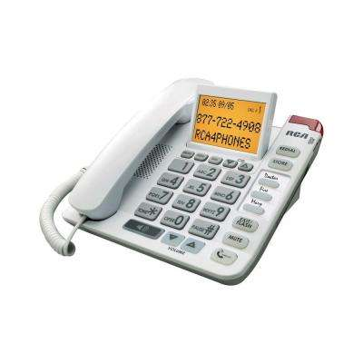 Amplified Big Button Corded Phone with Built-In Caller ID