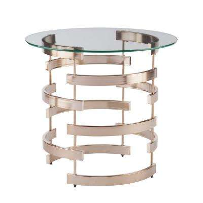 Raymond Champagne End Table