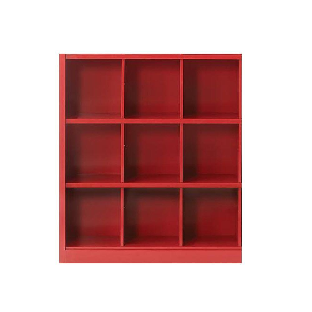 Home Decorators Collection Lachlan 40.5 in. x 46 in. Red 9-Cube Storage Organizer