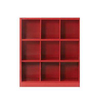 Lachlan 40.5 in. x 46 in. Red 9-Cube Storage Organizer