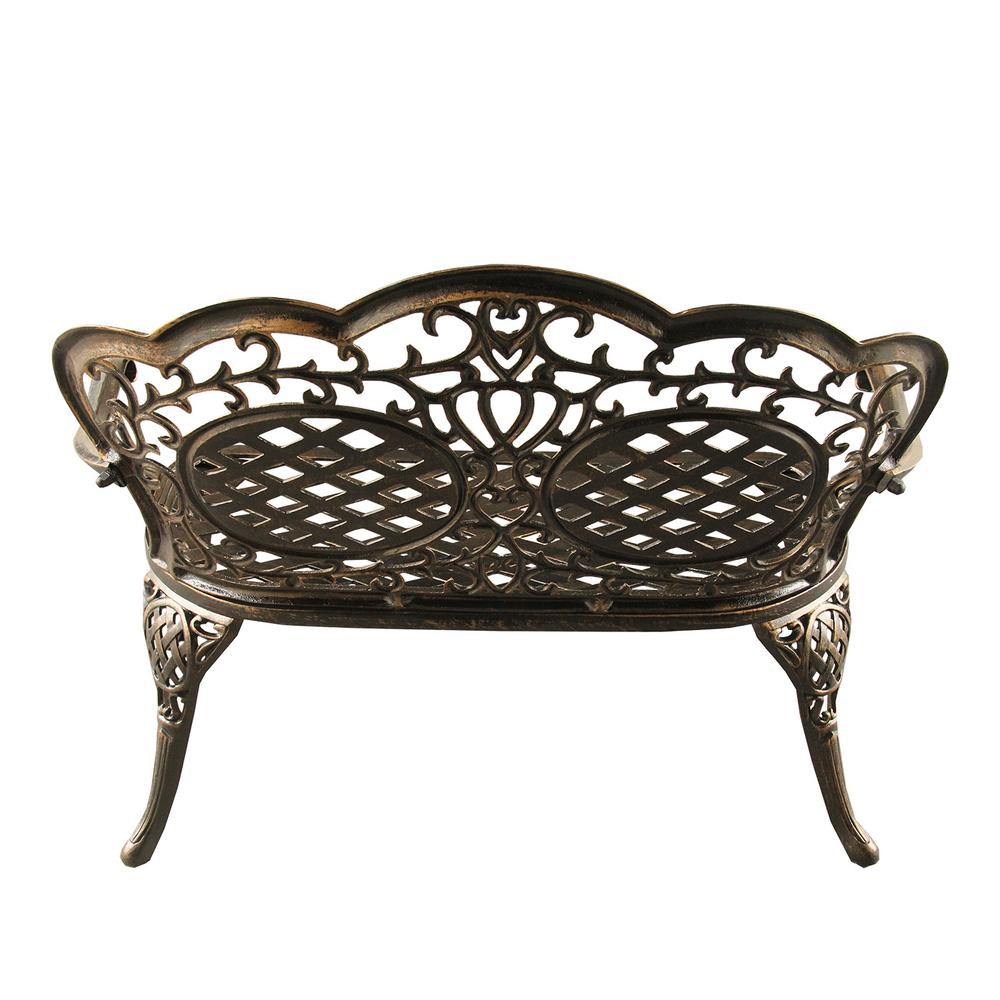 Fine Ornate Traditional Bronze Aluminum Outdoor Loveseat Evergreenethics Interior Chair Design Evergreenethicsorg