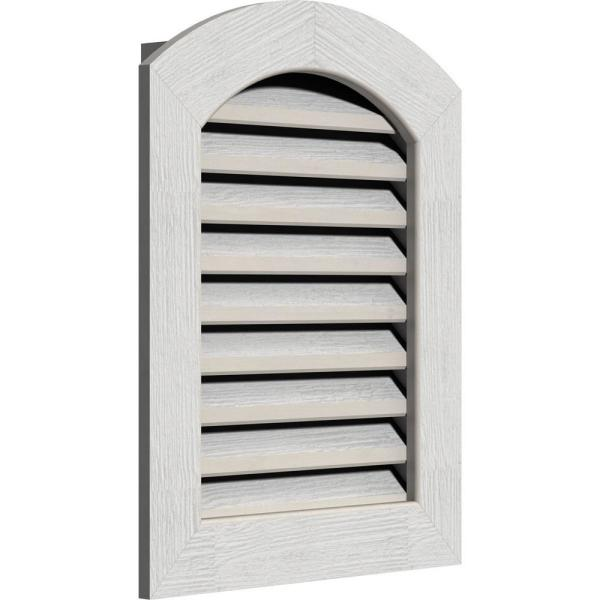 Ekena Millwork 21 X 41 Round Top Primed Rough Sawn Western Red Cedar Wood Paintable Gable Louver Vent Functional Gvwar16x3601rfpwr The Home Depot
