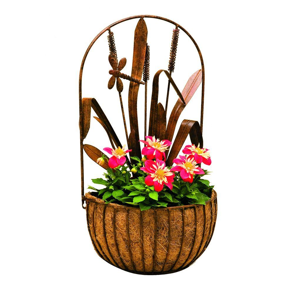 null Wall Basket with Liner Dragonfly