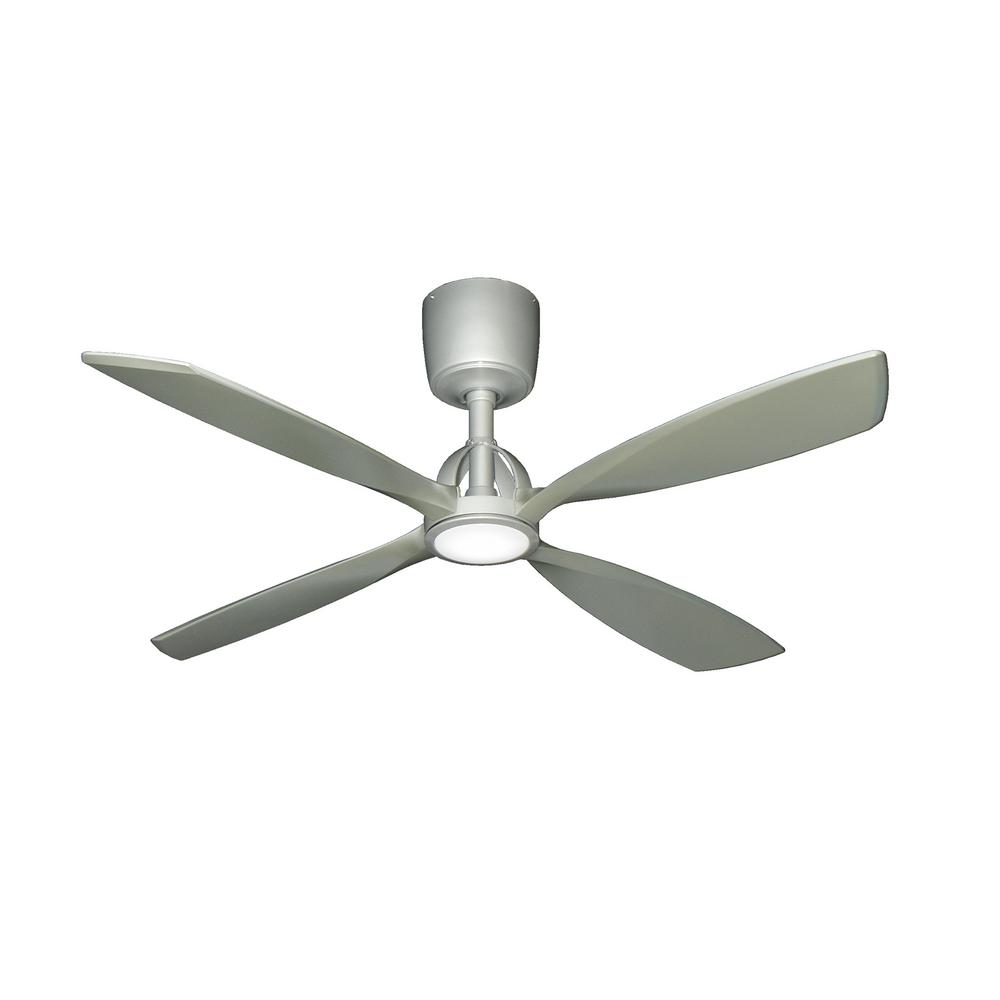 TroposAir Ninja 56 In. Brushed Nickel Ceiling Fan With LED Light