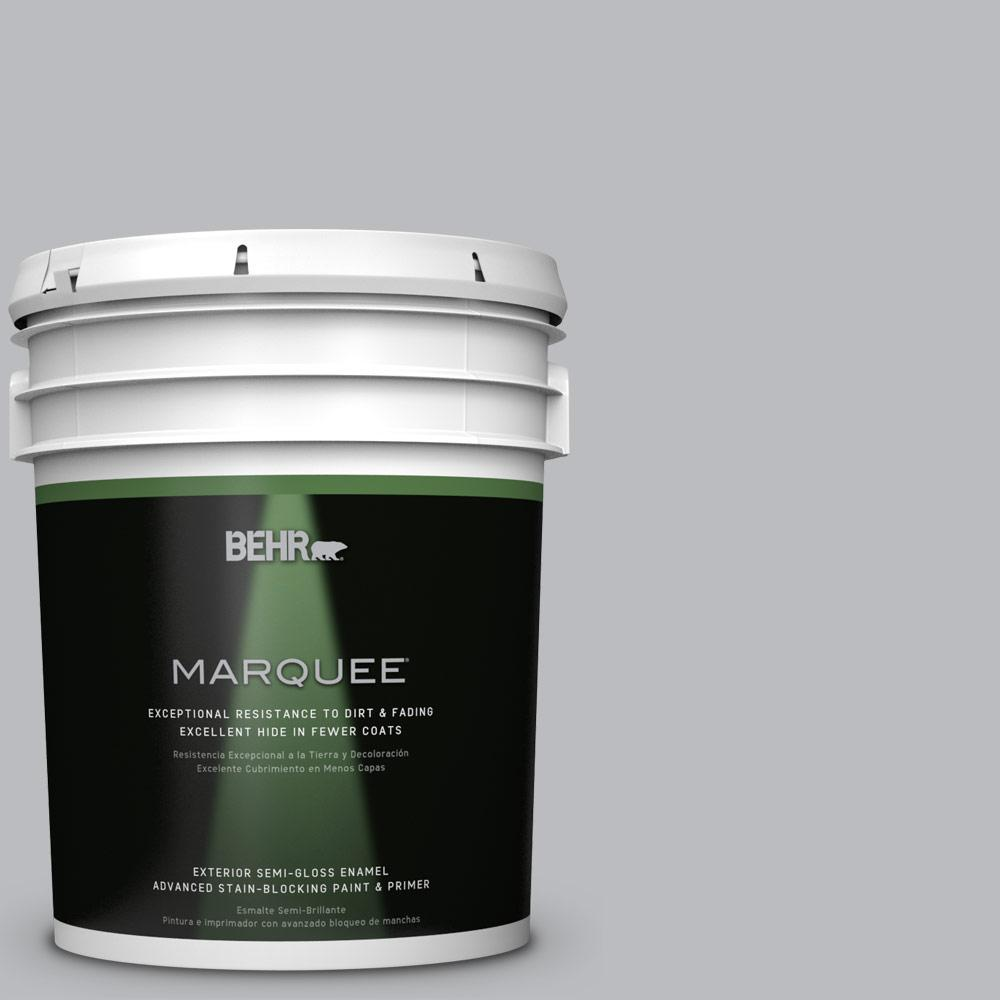 BEHR MARQUEE 5-gal. #PPU18-5 French Silver Semi-Gloss Enamel Exterior Paint