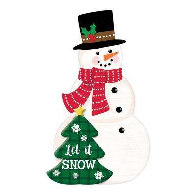 free standing decoration clear all compare 225 in christmas snowman mdf easel sign