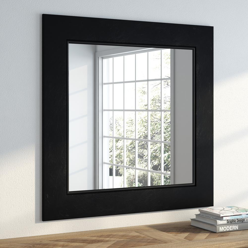 35 In X 35 In Black Superior Square Vanity Wall Mirror S012ml2