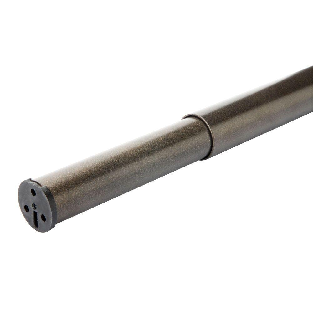 48 in. - 72 in. Heavy Duty Adjustable Bronze Closet Rod