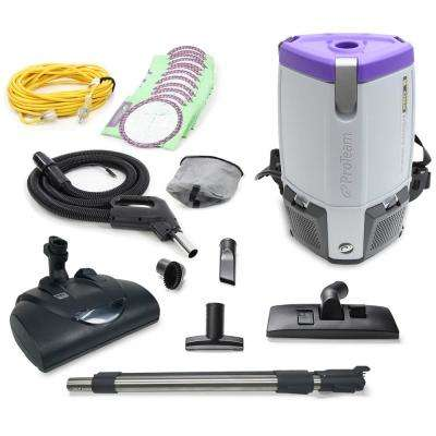 Proteam Super CoachPro 6 Qt. Commercial Backpack Vacuum with Wessel Werk Head