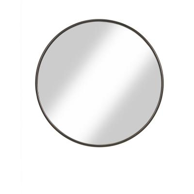 Oil Rubbed Bronze 36 in. Framed Round Wall Mirror